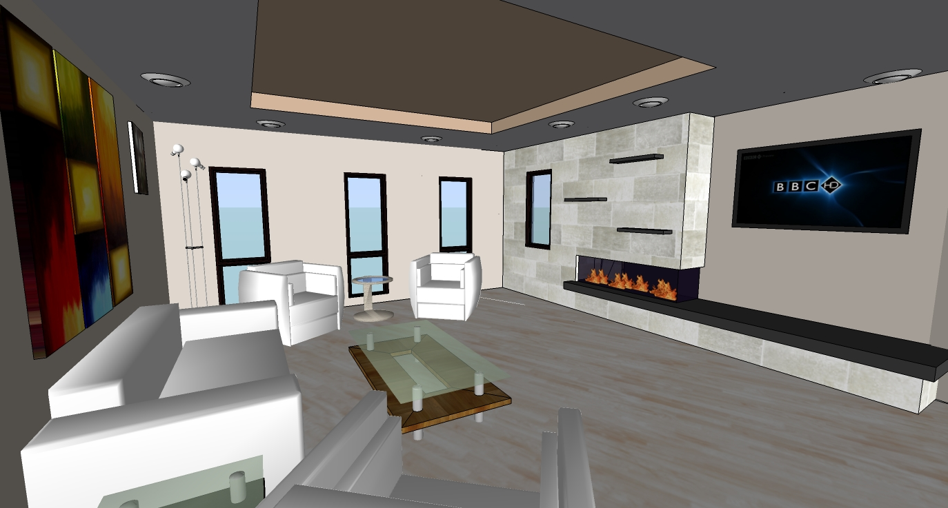 3d Model Interior fireplace 3